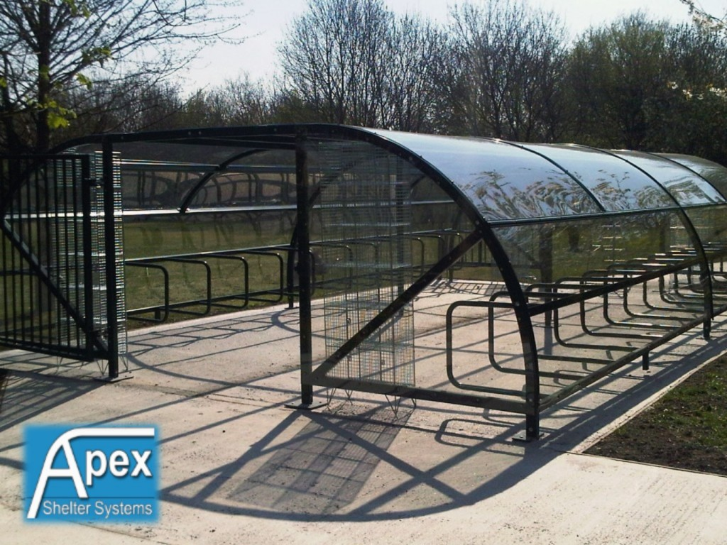 Enclosed Motorcycle Shelter : Opposing alpha cycle compound apex sheltersapex shelters