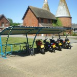 Beta P iR-iMc Cycle Shed and Motorcycle Shelter