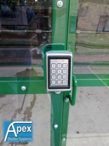 Keypad Locking Shelter