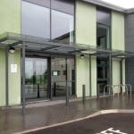 Glass Entrance Canopy – Caerphilly