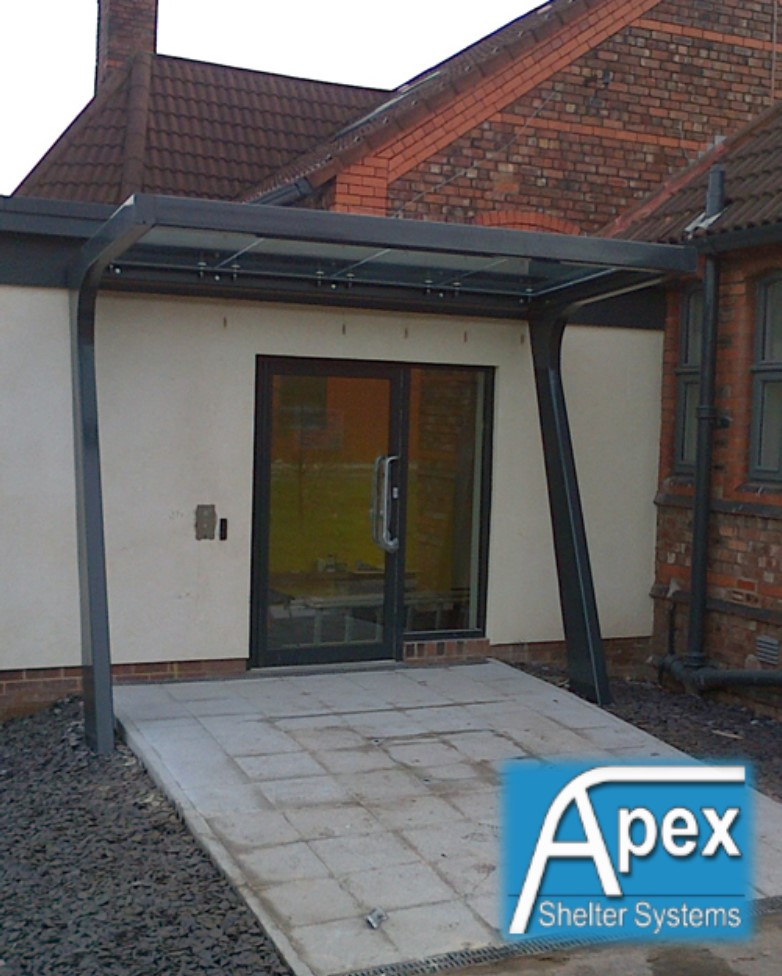 Liverpool Glass Entrance Canopy & Liverpool Glass Canopy - Apex SheltersApex Shelters