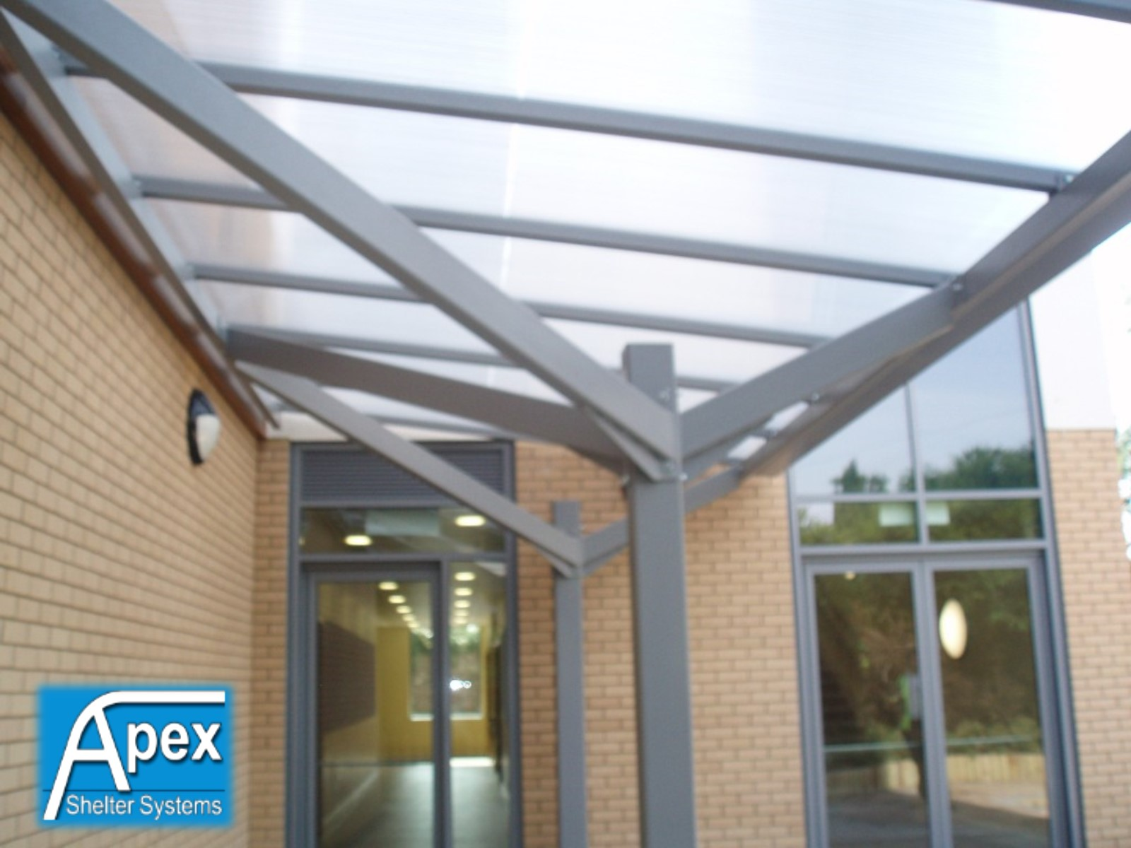 Entrance Canopies Product : Entrance walkways canopiesapex shelters