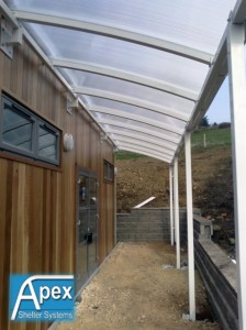 Curved Walkway Entrance Canopy