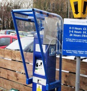 Single Meter Pay and Display Cover