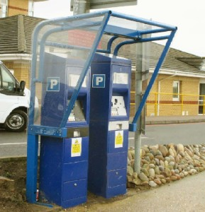 Double Meter Pay and Display Shelter